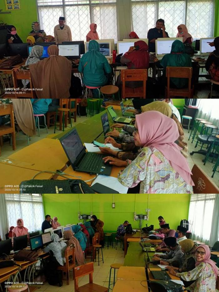 Kankemenag Kab. Batang Hari Lakukan Uji Coba Asesmen Kompetensi Untuk Guru Madrasah, Kepala Madrasah dan Pengawas Madrasah