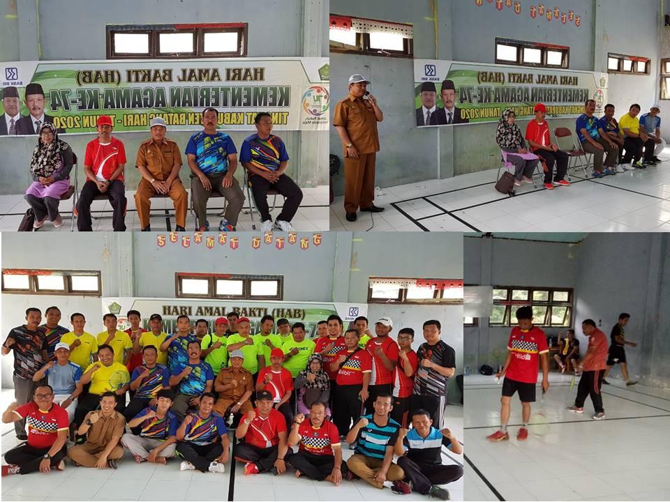 Pembukaan Turnamen Badminton Dalam HAB Ke-74