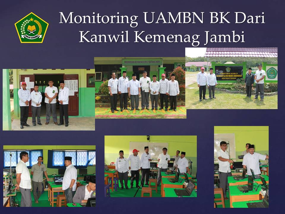 Monev UAMBN BK Dari Kanwil Kemenag Prov. Jambi